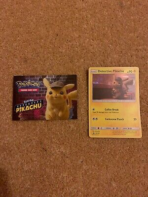 Pokemon - Detective Pikachu - Holo Promo Card + Collect Them All Guide - SM190