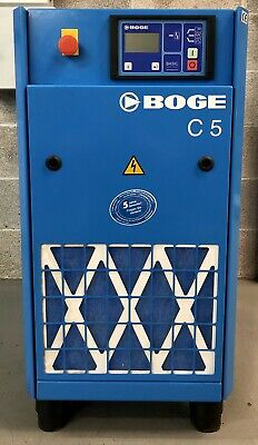 Boge C5 Rotary Screw Compressor, 4.0Kw, 22Cfm, 8 Bar, Immaculate Order!