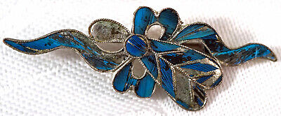 Antique Hand Made Silver & Enamel Chinese Pin / Brooch Made for Export #2