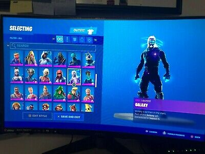 Fortnite Stacked Account +100 skins GALAXY SKIN AND HALLOWEEN MINTY PICKAXE