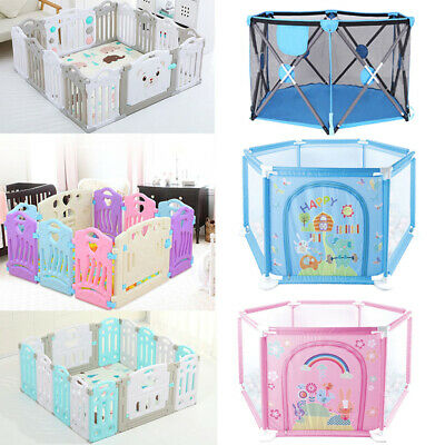 14 Panel Baby Safety Play Yards Kids Folding Playpen Activity Center Fence US