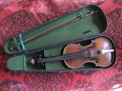 1880's European Duke London Copy Violin & 1800's Wooden Case