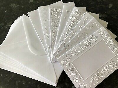Embossed Blank Cards And Envelopes Craft Card Making Bundle ClearOut Job Lot