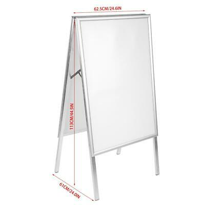 A1 Aluminum Alloy Snap Frame A-Board Pavement Display Double Sided Poster US