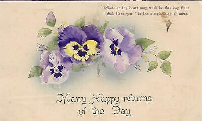Many Happy Returns of the the Day 1910 Postcard Used