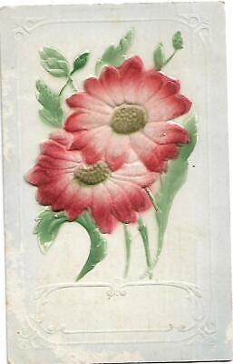 Flowers Christmas Card 1900's Postcard Used