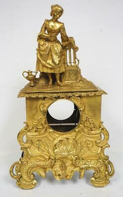 French 8 Day Mantel Clock Case Solid Bronze Ormolu Mantle Clock Case Circa 1840
