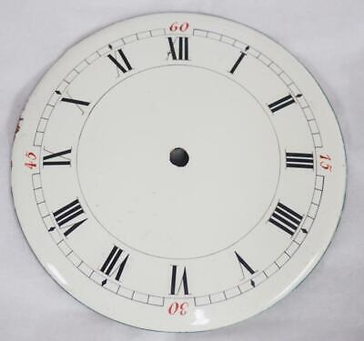 Enamel clock Dial French Clock Dial Roman Numerals For Timepiece C1900 8.8cm