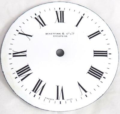 Enamel clock Dial French Clock Dial Roman Numerals For Timepiece C1900 9cm