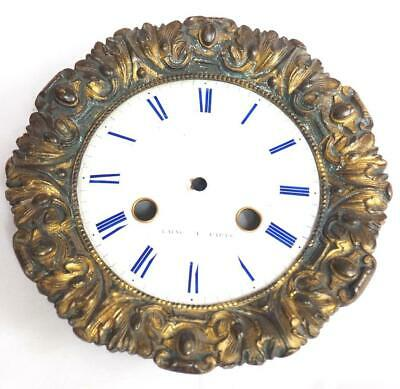 Enamel clock Dial French Clock Dial Roman Numerals With Bezel Empire C1840 15cm