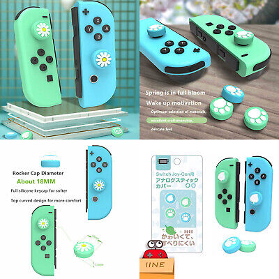 Thumb Sticks Grips Analog Cap For Animal Crossing Switch Lite Joy-Con Controller