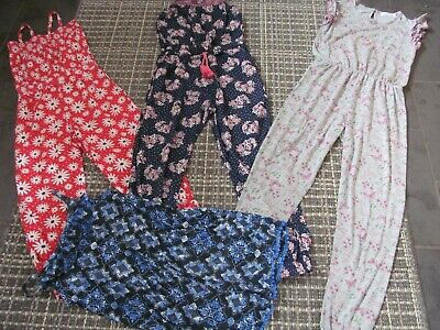 4 x girls size 8-9 jumpsuits, bundle