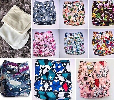 Reusable Pocket Nappies (with bamboo & microfibre inserts)