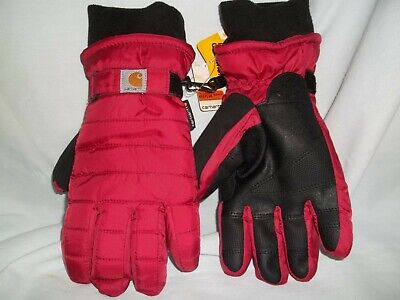 New Red CARHARTT Insulated Winter Gloves for Skiing or Snowballing, Women's Smal