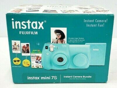 Fujifilm Instax Mini 7s Instant Camera Bundle -Sea Foam - NEW