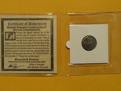 Ancient Roman Coin THE GLADIATORS Genuine Roman Bronze Centenionalis   tr1