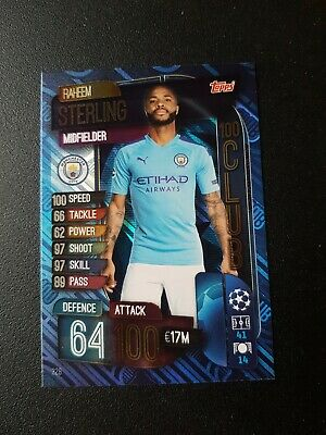 Match Attax Champions League 2019-20 #328 Raheem Sterling Manchester C 100 club