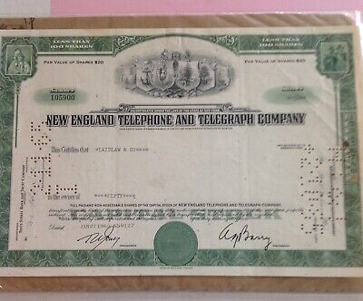 Mexican Telephone and Telegraph Company preferred stock certificate Mexico share