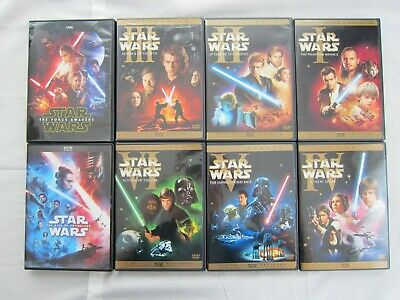 Star Wars Dvd Lot Collection, The Rise of Skywalker, The Force Awakens & More