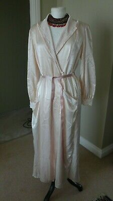 Peaches&Cream Satin & Lace Dressing Gown Satin&Lace  Size Large UK 16