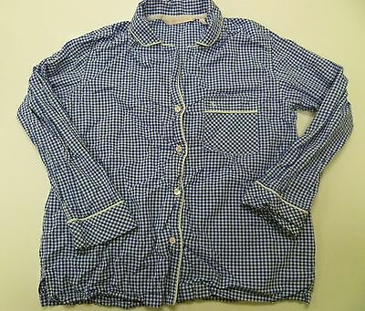 Victorias Secret Long Sleeve Blue White Gingham Sleep PJ Pajama Top Shirt Sz XS