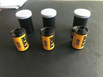Kodak Gold 400 24 exp 35 mm color film - 3 rolls new in canisters