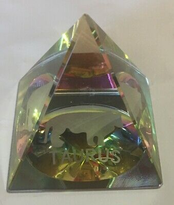 Crystal Pyramid Iridescent Suncatchers Prism Rainbow Color Taurus Scripted NICE!