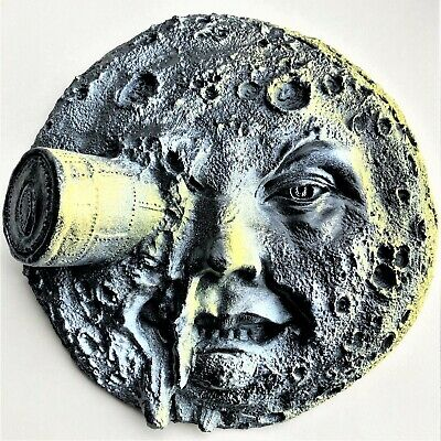 "A Trip to the Moon, a Collectible 9"" Handmade Decorative Sculpture by Claybraven"