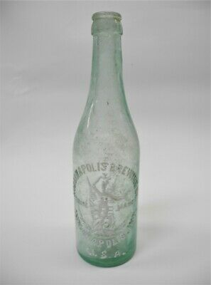 Antique  INDIANAPOLIS BREWING CO. USA Glass Beer Bottle