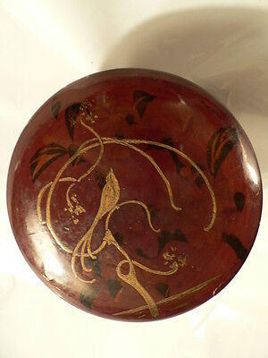 Antique Chinese Red Lacquer Early Chinese Papier Mache Black Red Laquered box
