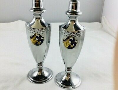 """TSMV"""" Manoora"""" Silver plated shipping collectable table salt&pepper shakers"""