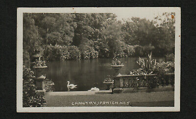 s2256)   VINTAGE REAL PHOTO POSTCARD OF CHANTRY, IPSWICH, SUFFOLK, ENGLAND 1934