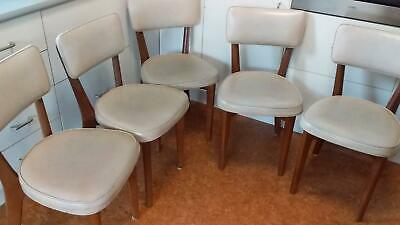 5 mid century dining chairs