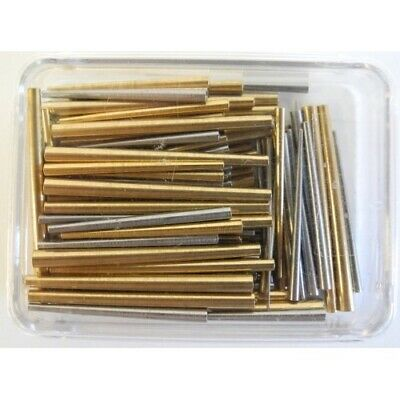 Clock Taper Pins Assortment Extra Large Sizes Brass & Steel (140 pieces) - CX003
