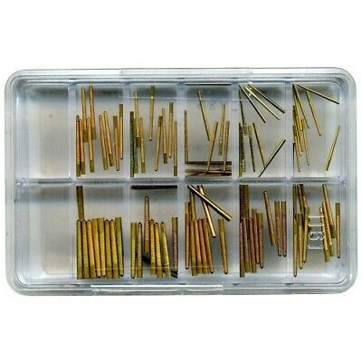 Brass Tapered Clock Pins Assortment 0.70-1.50mm (Pack of 100) 13mm length - CY86