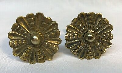 Antique Pair Early 19th Century Curtain Tie Backs Mirror Supports Federal