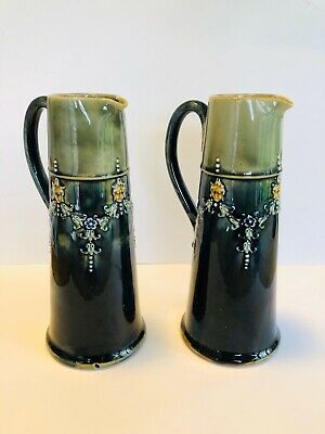 Early 20th Century Pair of Antique Royal Doulton Stoneware Jugs.