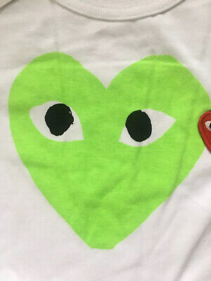 Mens Comme des Garcons Two Hearts T Shirt Size MEDIUM NWTAGS Cotton Only 1 Left