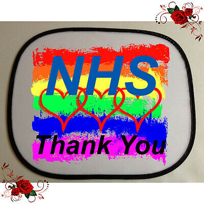 1 Designed Car Sun Screen Shade - NHS Keyworkers Thank You - Style 2