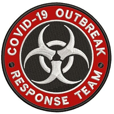"Jurassic Park  Emergency Response Unit 3 1//2/"" Diameter Embroidered Patch"