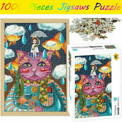 Cat Baron Jigsaw Mini Puzzles 1000 Pieces Adults Assembling Toys Game Kids Hobby