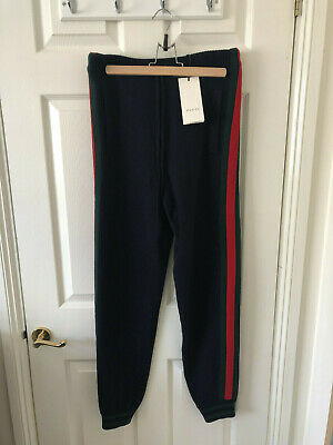 Gucci Cashmere Wool Blend Sweat Pants Size Xs