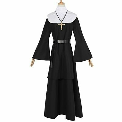 NEW The Conjuring Scary Ghost nun clothes Cosplay Costume Halloween Women Dress