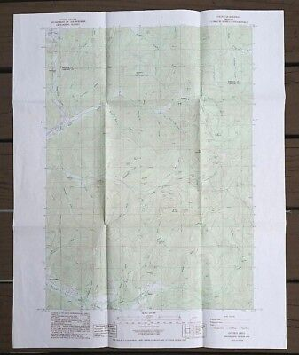 DOI Geological Survey Topographic Map Golden Quadrangle Provisional Oregon 1986
