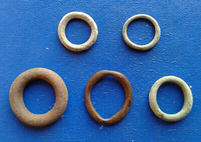 lot of 5 Celtic bronze ring-money, 5th-1st cent BC. №0041