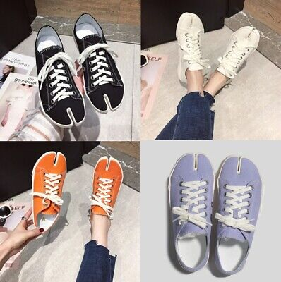Mw010424 - Fashion Canvas Lace Up Split Toe Sneakers (Size 35 - 40)