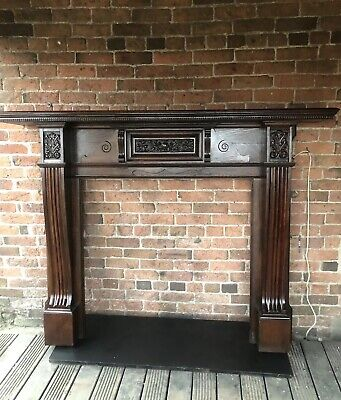 Superb Antique Solid oak   Fire  Surround FREE  DELIVERY or   £25 UK