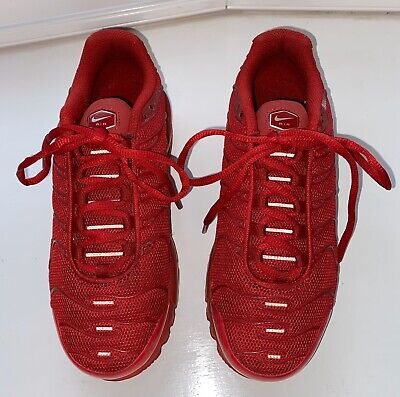 Ladies / Youths Nike Tn Air Red Trainers Special Edition 655020-660. Size 5 Vgc