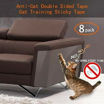 8pcs Anti Cat Scratching Deterrent Tape, Scratch Protection Tapes for Pet, clear