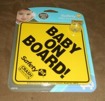 Safety 1st Baby On Board! Sign  New in Package
